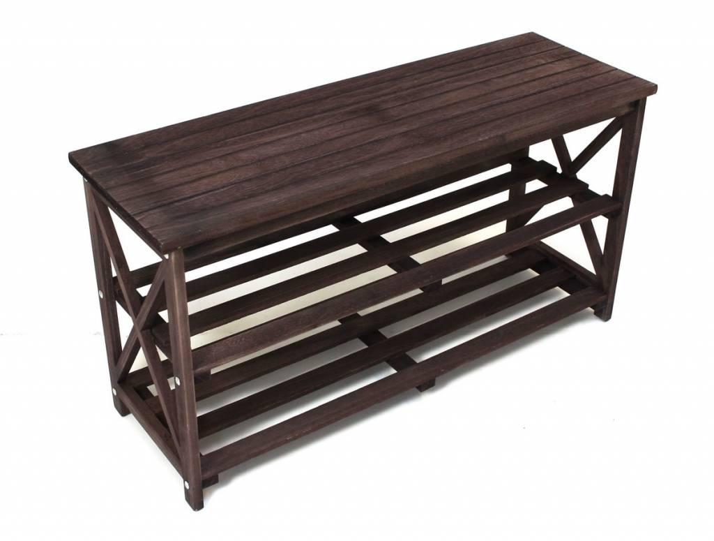 sitzbank mit ablagefach holz schuhregal handtuchablage garderobenbank k chenbank ebay. Black Bedroom Furniture Sets. Home Design Ideas