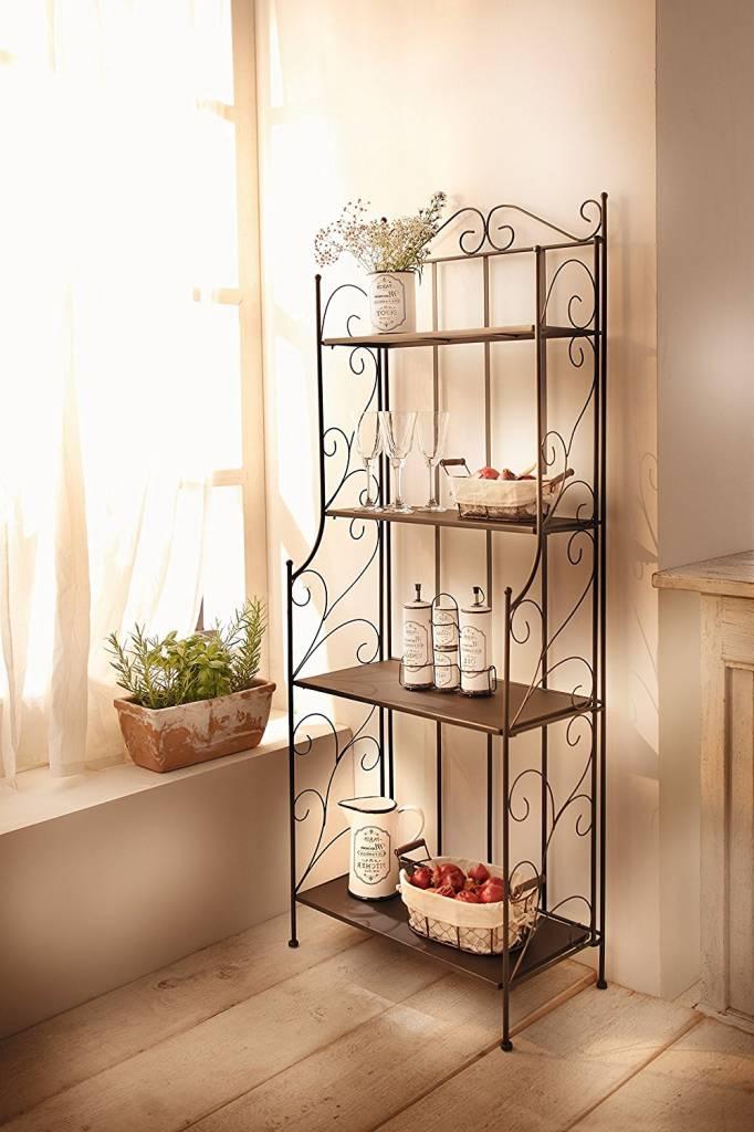 metall regal lucca klappaufbau wohnambiente shop. Black Bedroom Furniture Sets. Home Design Ideas