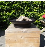 2L Home and Garden vuurschaal op voet 60 Ø cm. Zwart gecoat staal