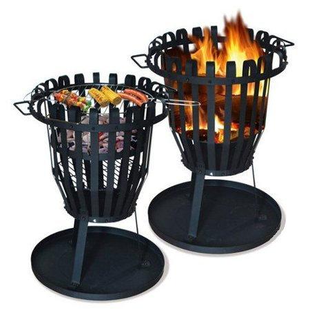 BBQ Collection vuurkorf met barbecue / BBQ rooster 40x59 cm.