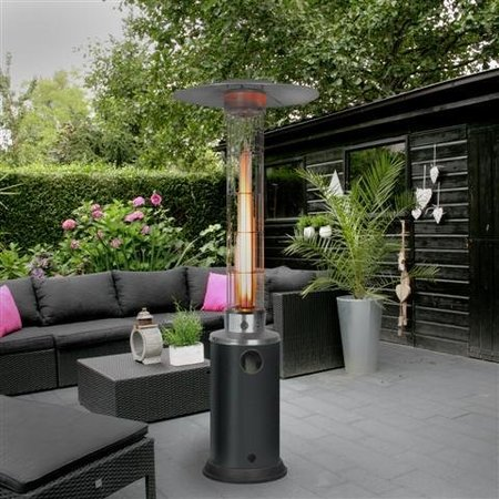 Eurom flame heater terrasverwarmer – sfeerhaard regelbaar vermogen 5 tot 12 kw.