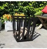 2L Home and Garden vuurkorf en barbecue Cube kleur zwart