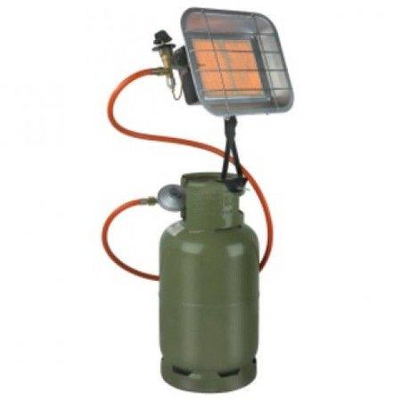 Eurom GS5000FM gasstraler - infraroodstraler 5000 watt met gasflesbevestiging