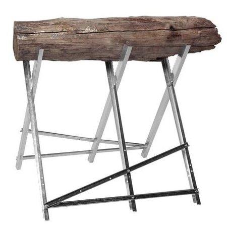 Gegalvaniseerde zaagbok metaal voor het zagen van brandhout