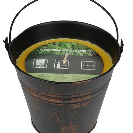 Tuinkaars in emmer - 52 branduren – Citronella tuin kaars
