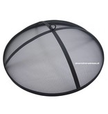 BBQ Collection stalen vuurschaal diameter 75 cm. met vonkenbeschermer