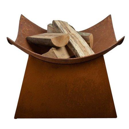 Esschert design Firebowl square rust