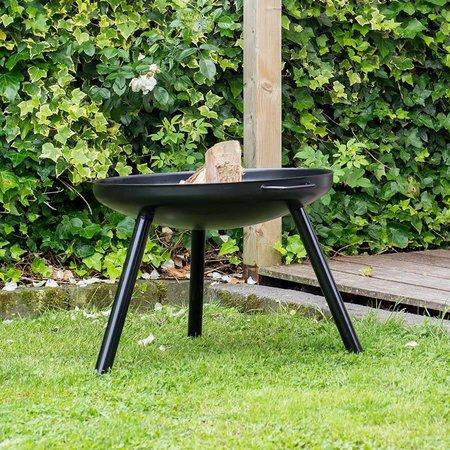 2L Home and Garden Vuurschaal Robusta Ø 60 x 40 cm zwart