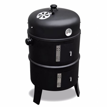 2L Home and Garden Rookoven Black Smoker 2-in-1 rookoven&barbecue