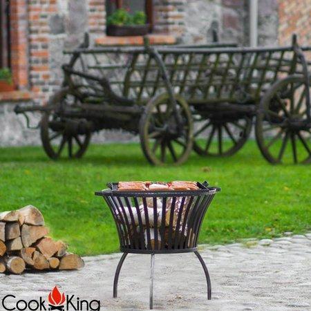 Cookking Cookking vuurkorf Ibiza + grillrooster black steel