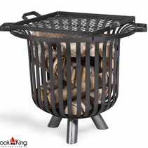 Vuurkorf Verona + grillrooster black steel