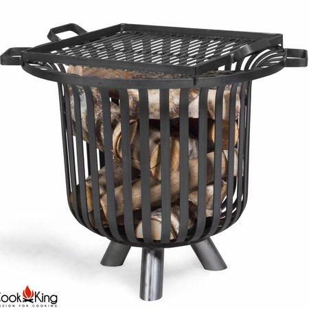 Cookking Cookking vuurkorf Verona + grillrooster black steel