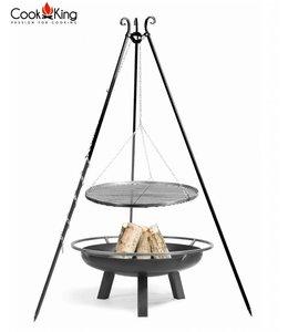 Cookking Statief 180cm + grillrooster  + vuurschaal Porto