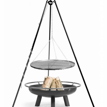 Cookking Vuurschaal Porto Grillrooster BBQ set Ø 60 – 70 – 80 – 90 cm hoogte 180 cm