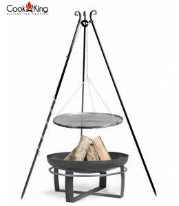 Cookking statief 180cm + grillrooster + vuurschaal Viking