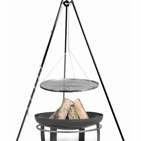 Cookking Vuurschaal Viking Grillrooster BBQ set Ø 60 – 70 – 80 – 90 cm hoogte 180 cm