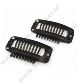 Huismerk Extension clips zwart 5 stuks