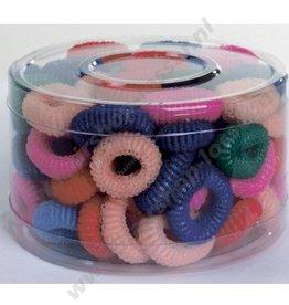 Stoffen elastiekjes bont klein 100 stuks