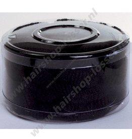 Stoffen elastiekjes groot zwart 50 stuks