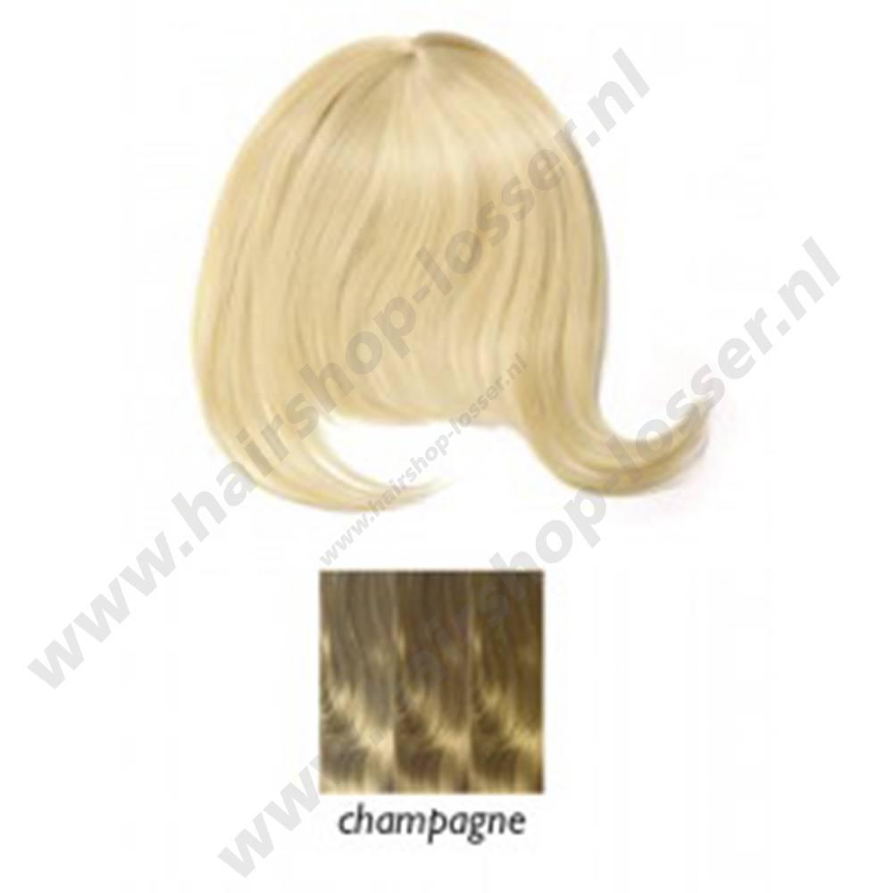 Balmain Clip in fringe champagne clip in pony