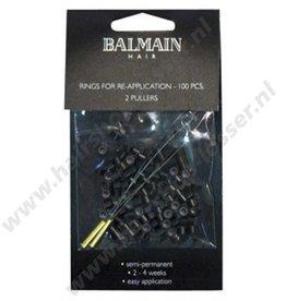 Balmain Rings bruin voor extensions