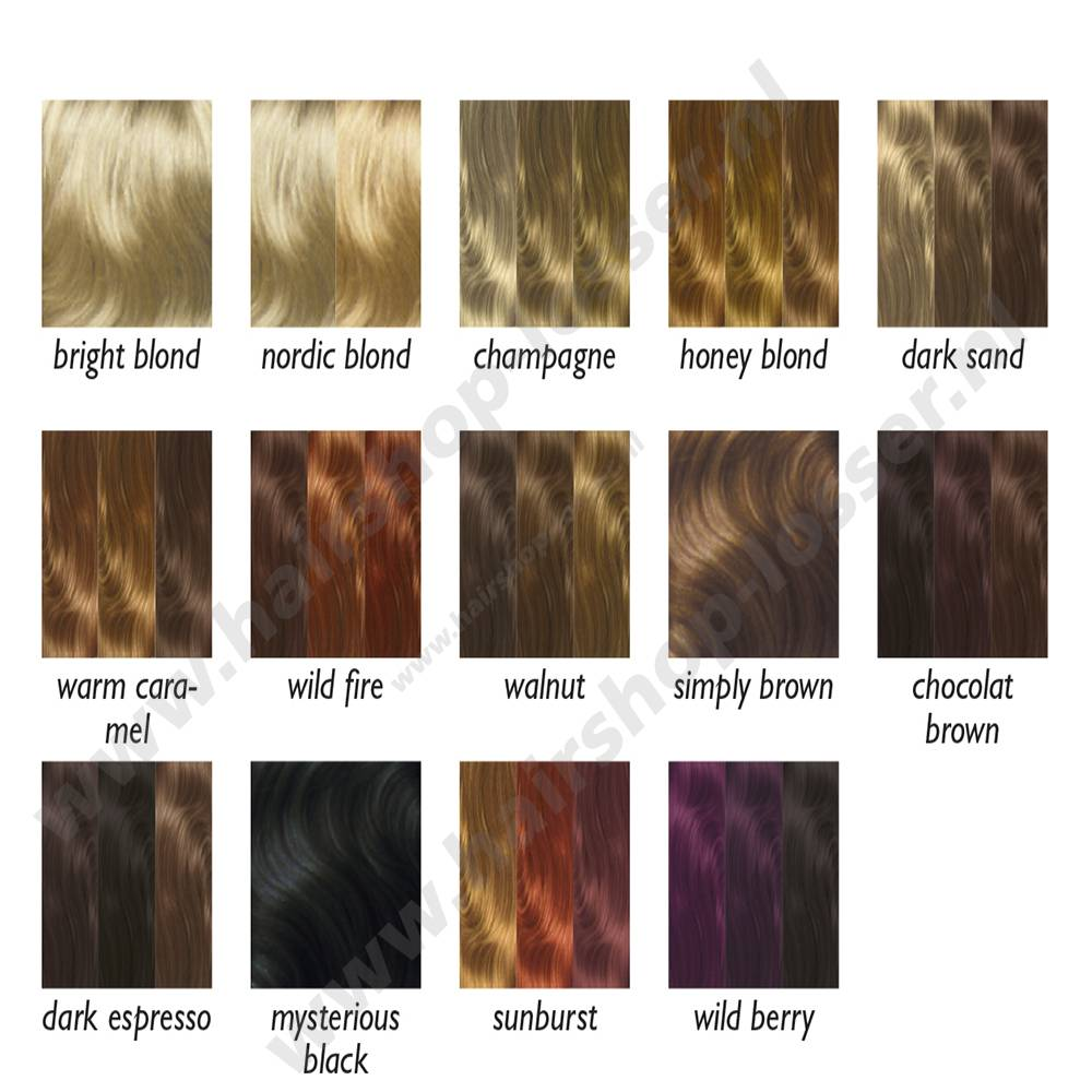 Balmain Color fringe 15cm wild fire