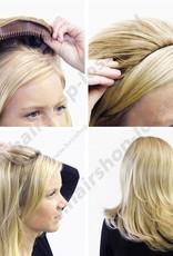 Balmain Half wig 55cm L.A. 100%memory hair