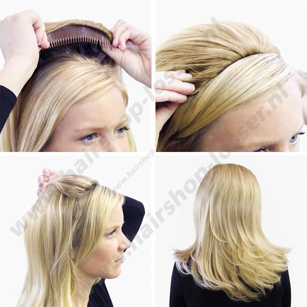 Balmain Half wig 55cm Dubai 100%memory hair