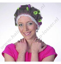 Haarnet met kant roze