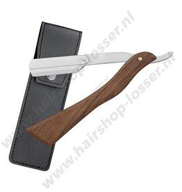 Huismerk Dr. Sha houten straight razor mod. 2 haaks