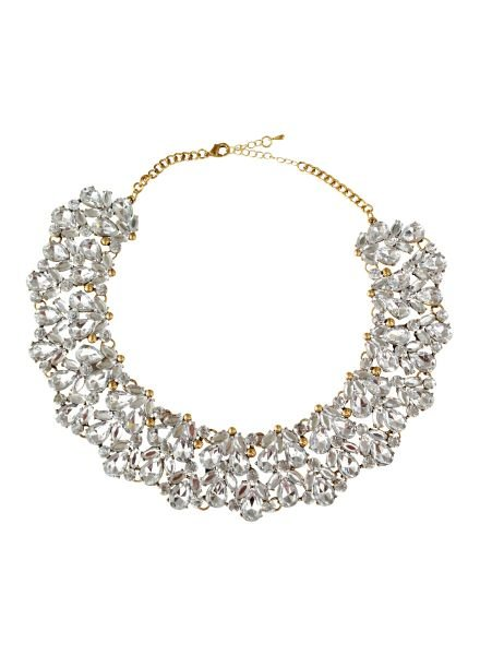 Classic statement choker necklace with rhinestones