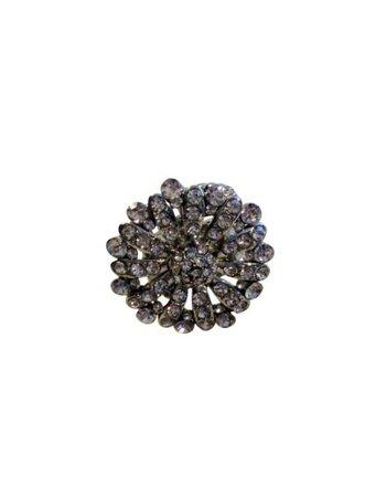 Chique, ronde statement ring met strass stenen