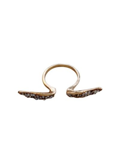 Coole statement ring met vleugels