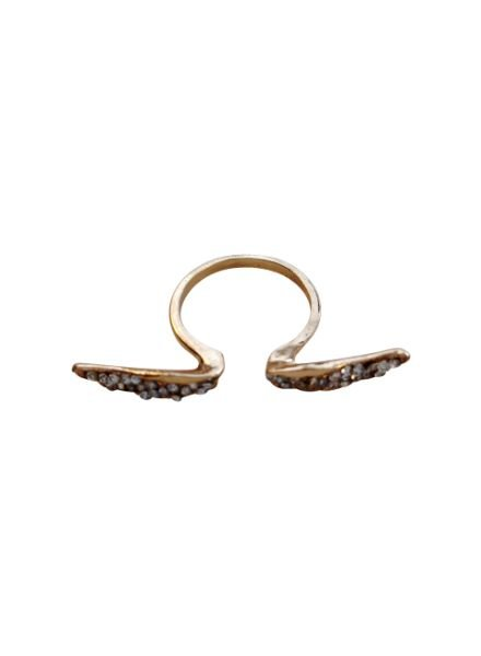Cool angel wings statement ring