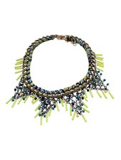 Colorful urban rock statement necklace