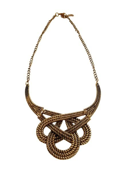 Messy infinity statement necklace