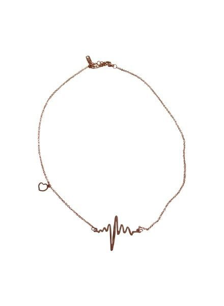 Cool heartbeat statement necklace