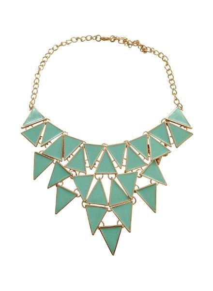 Coole statement ketting met driehoeken