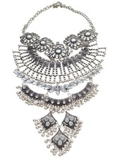 Eye-catching vintage bohemian statement necklace