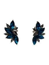 Blue urban rock chique statement earrings