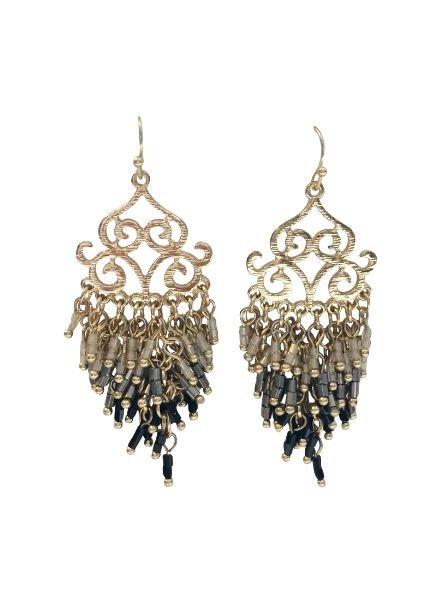 Full brocant statement earrings