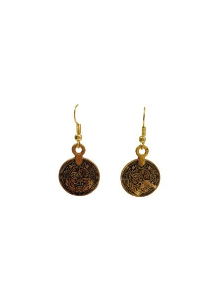 Vintage coin statement earrings