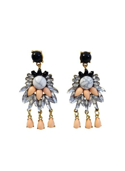 Trendy Peach Echo statement earrings