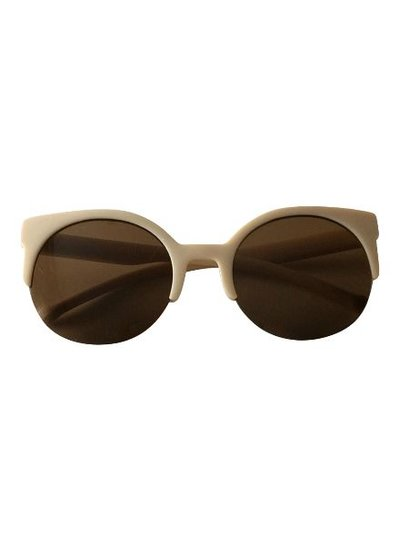 Half frame retro sunglasses