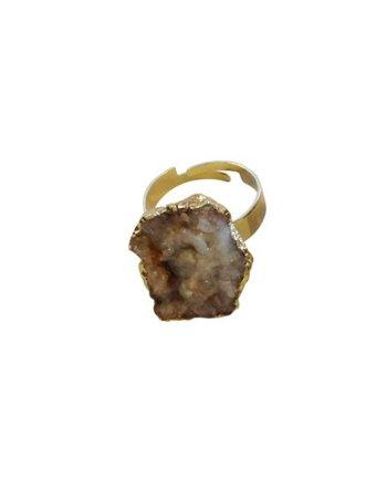 Unieke statement ring met een grote amethist druse kristal D