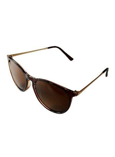 Coole zwarte vintage urban zonnebril met strak montuur