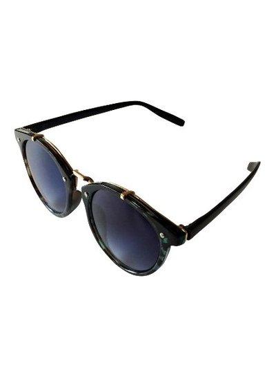 Vintage urban stijl zonnebril met blauwe glazen