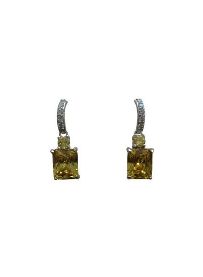 Elegant yellow statement earrings