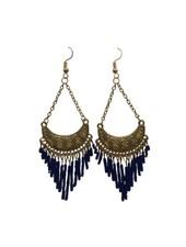 Cute blue boho chic statement earrings