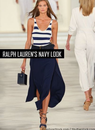 Ralph Lauren's navy look